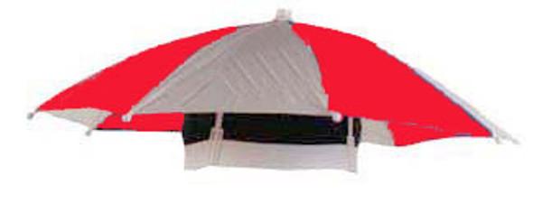 Kids Umbrella Hat | Umbrella Hat | 12 PACK Red/ White WS1518D