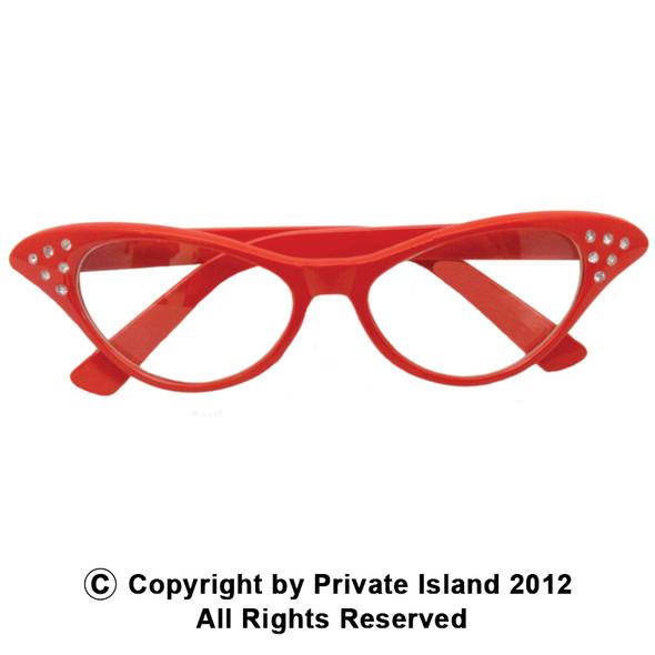 12 PACK Red Rhinestone Cat Eye Glasses WS1190D