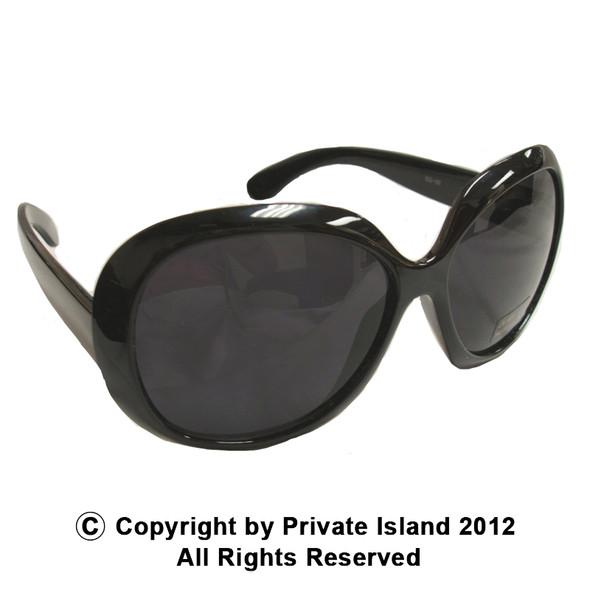 12PK Black Jackie Oversized Sunglasses WS1138D