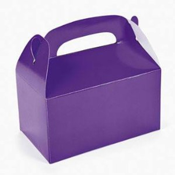 24 PACK Mini Purple Treat Boxes 3945D