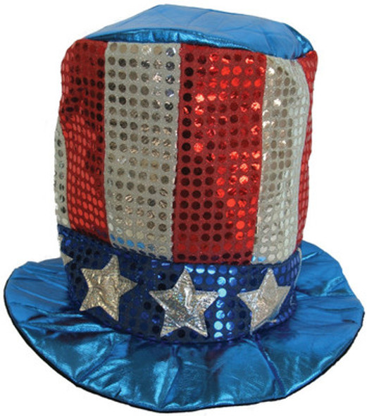 4th of July Sequin Top Hat 1355A