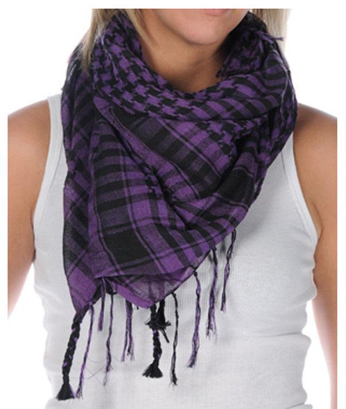 Arab Houndstooth Square Purple/Black 2078