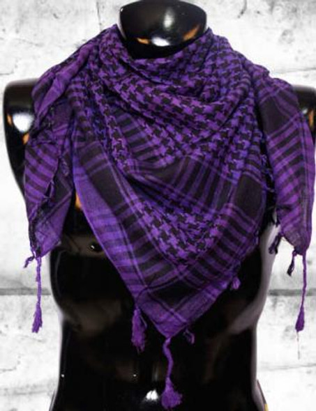 Arab Houndstooth Square Purple/Black 2078