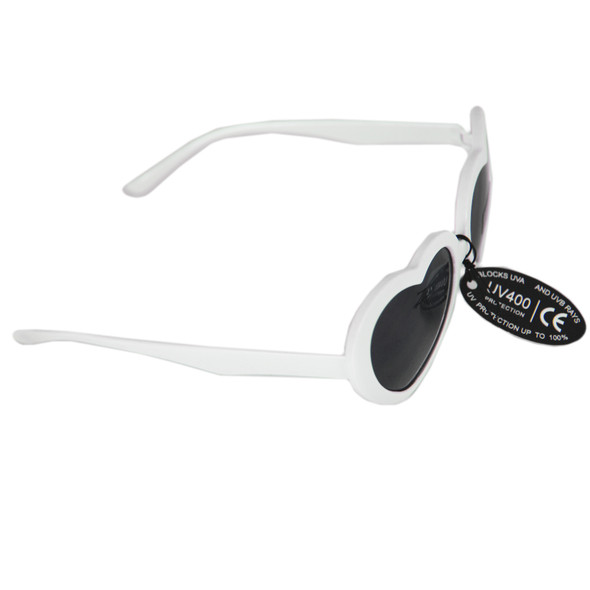 White Child Lolita Heart Shape Sunglasses 100% UV Superior Quality 1026