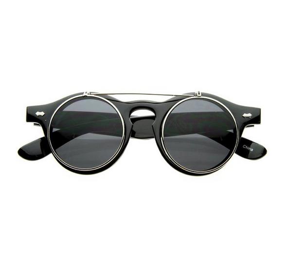 Steampunk Circle Glasses Silver 1037