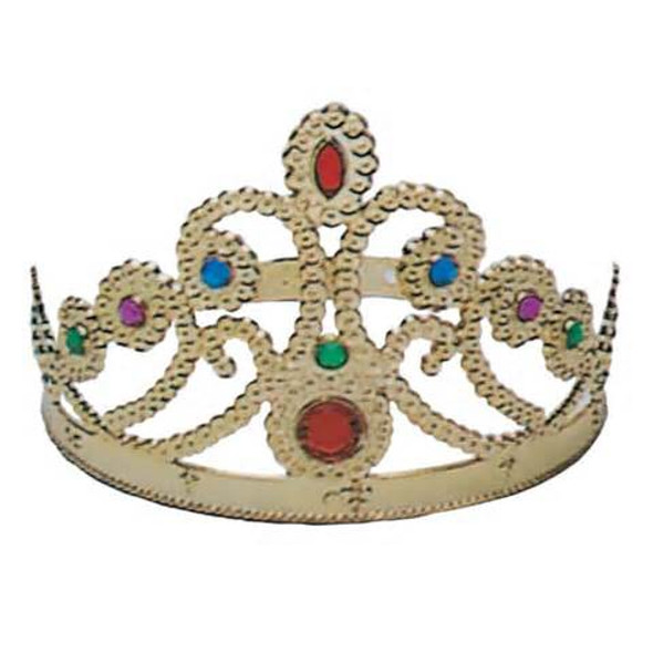 Gold Queen Crown with Jewels (12 PACK) 1485