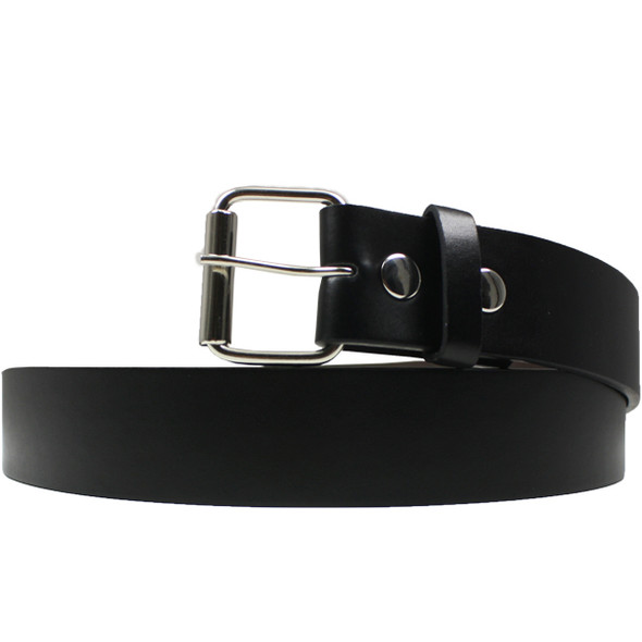 Black Buckleless Belts Wholesale | With Detachable Buckle | ADULT 12 PACK Mix Sizes 2321A