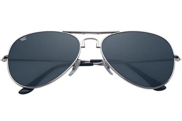 Retro Sunglasses Silver Smoke Frame Police Glasses 12PK 1108D