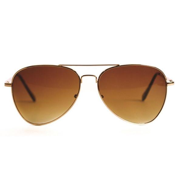 12PK  Aviator Gold Frame/Gold Lens Sunglasses D1112