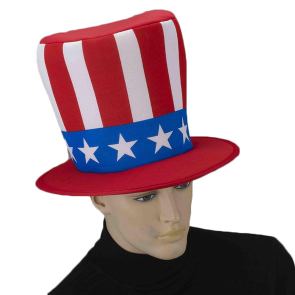 12 PACK Jumbo Patriotic Hat 4th of July Uncle Sam 5925D