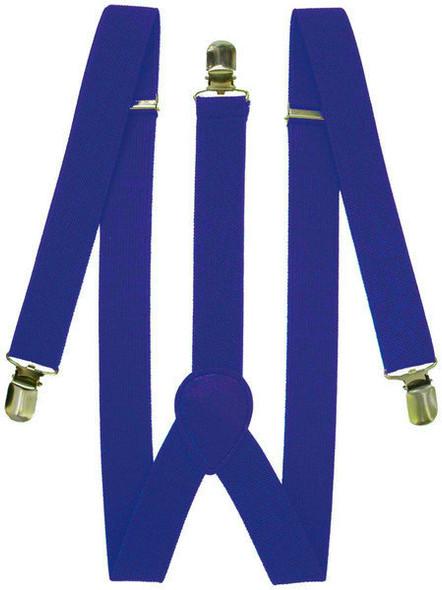 Blue Suspenders Bulk Wholesale Clip On Elastic 12 PACK 1292D