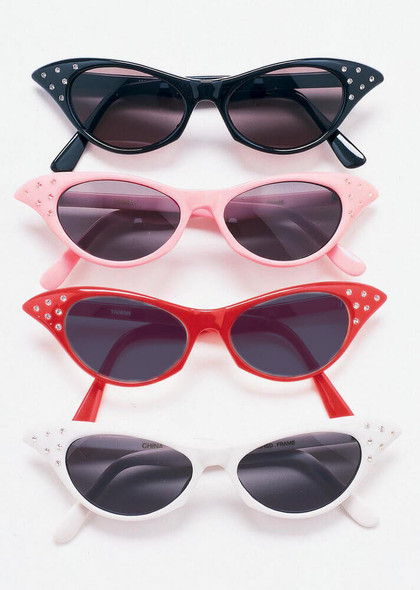 50's Cat Eye Sunglasses | w/ Rhinestones 12PK Mixed Colors 1190A