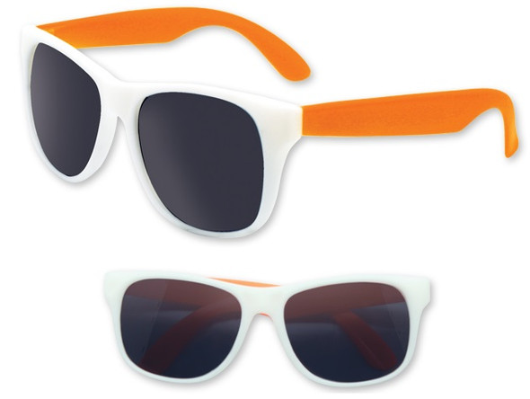 Party vintage 80 Style Sunglasses White Frame with Orange Legs 7298