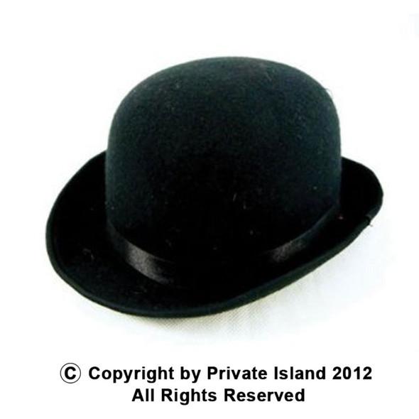 Derby Hat Bulk Black Felt 12 PACK Wholesale 1496D