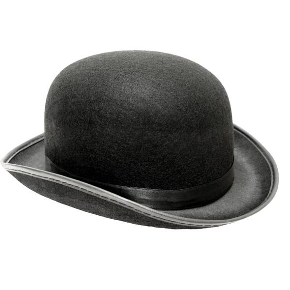 Derby Hat Bulk Black Felt 12 PACK Wholesale 1496D