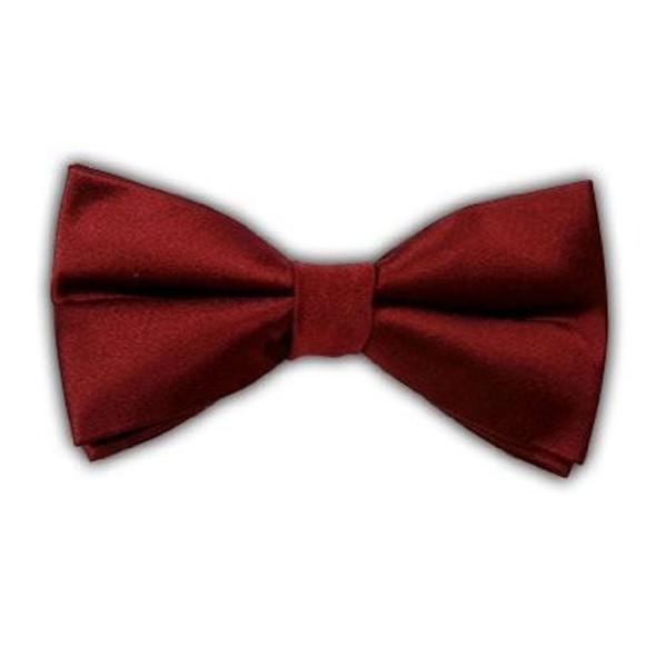 12PK Satin Bow Tie Men's Burgundy 6841D