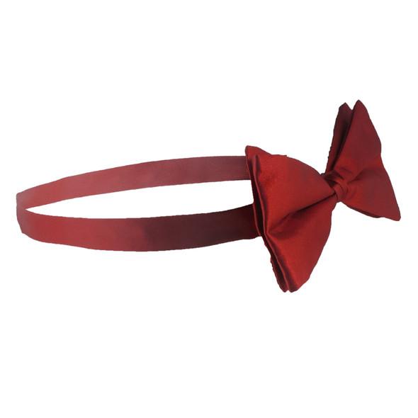 12 PACK Satin Bow Tie Men's Burgundy 6841D