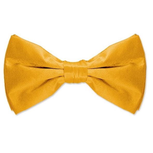 12PK Satin Bow Tie Yellow Men's 6840D
