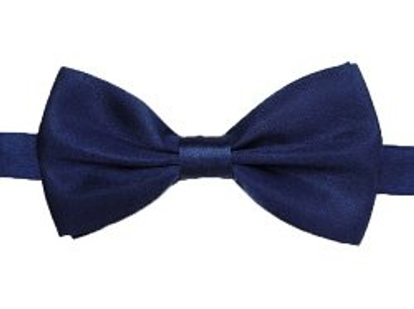 12PK Satin Bow Tie Navy Men's 6835D
