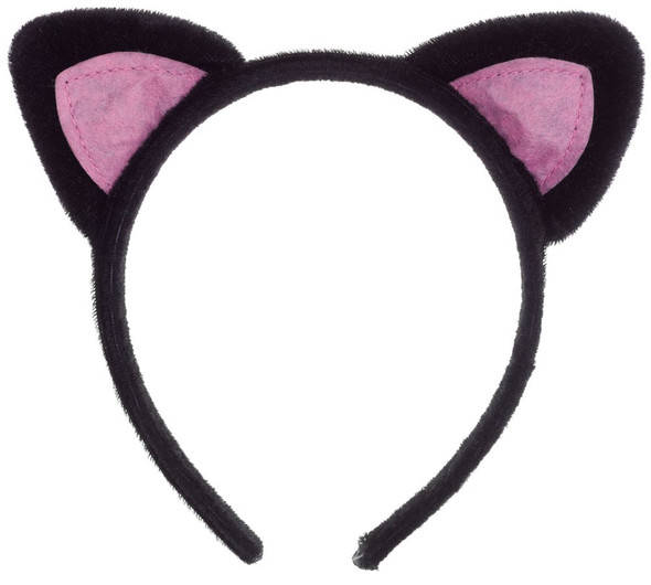 Black Cat Ears Headband 12 PACK 16770