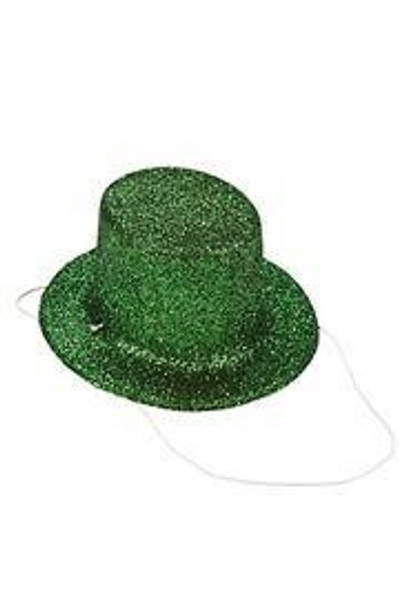 Green Glitter Mini Top Hat 58500