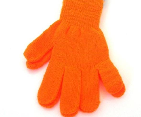 Knit Gloves Neon orange 50771