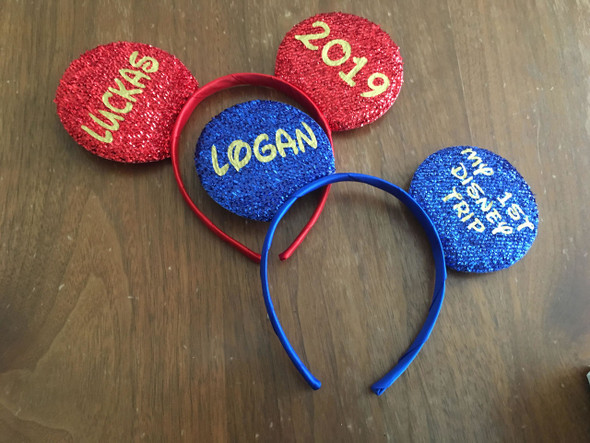 Personalized Mickey Mouse Ears, For Adults and Children's Parties or Personalized Giveaways