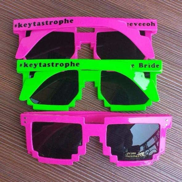 Custom Pixel Sunglasses   Custom 8 Bit Glasses 15053 (Fonts in Picture Gallery)