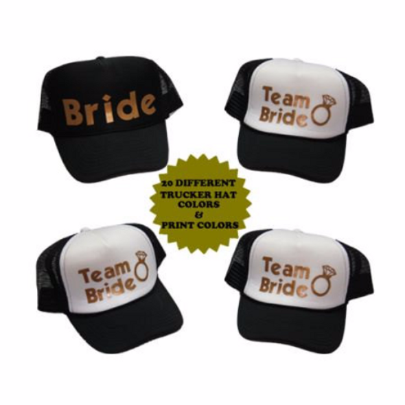 Personalized Bridesmaid Hats, Bachelorette Party Hats For Bach Parties