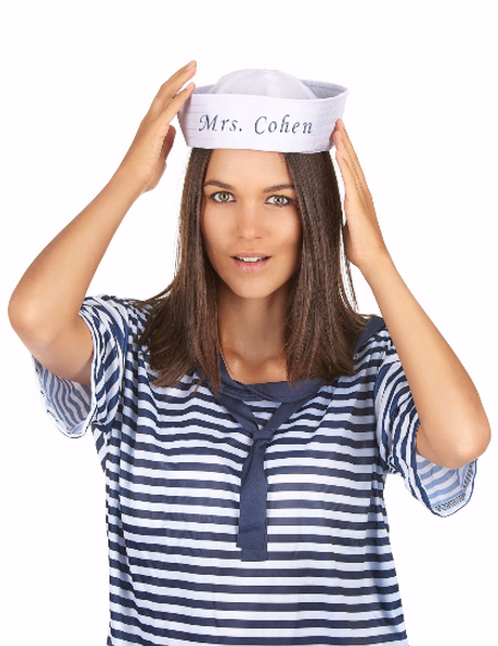 Customized Sailor Hats | Nautical Party Ideas | 100% Cotton with your Customized Message