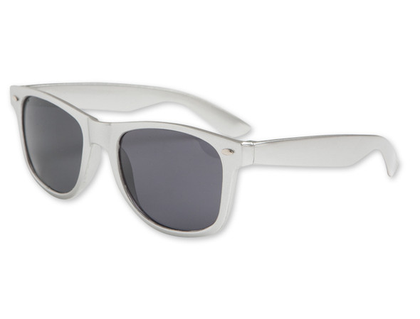 Silver Iconic 80's Sunglasses Adult 12 PACK 16002