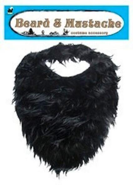 12 PACK Fake Beard And Mustache Black Deluxe Bulk 1622D