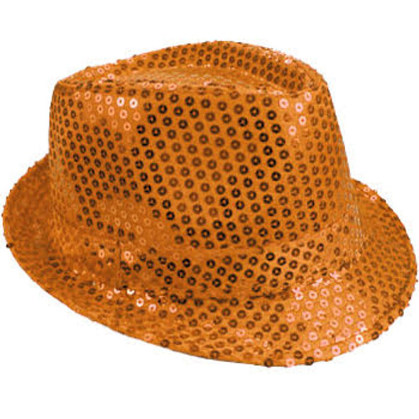 Bulk Orange Hats | Bulk Orange Fedoras | 18000 Adult Size 12 PACK