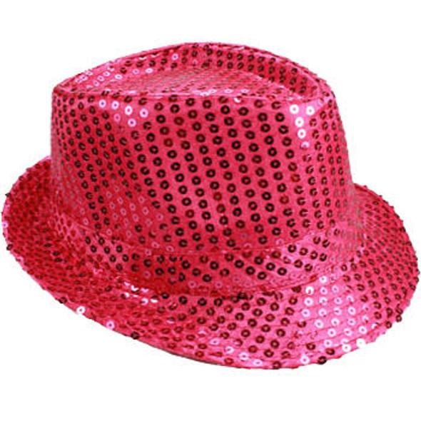 Bulk Pink Hats | Bulk Pink Fedoras | 18001 Adult Size 12 PACK