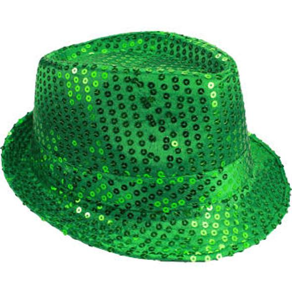 Bulk Green Hats | Bulk Green Fedoras | 18003 Adult Size 12 PACK