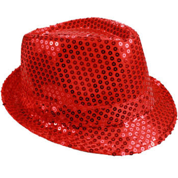 Bulk Red Hats | Bulk Red Fedoras | 18004 Adult Size 12 PACK
