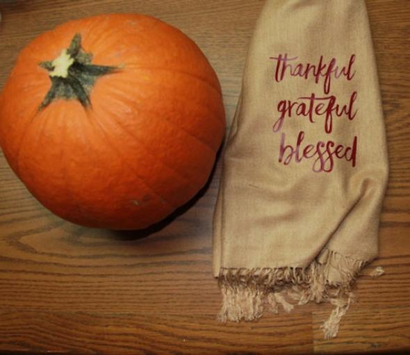 Thanksgiving Scarf   Fall Scarf   Autumn Scarf   Pumpkin Scarf
