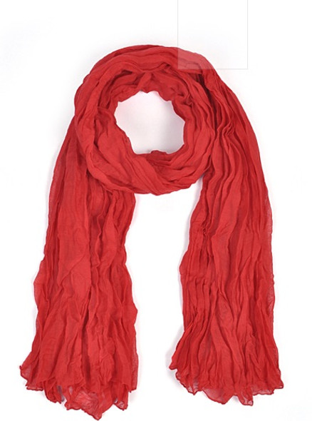 Wholesale Red Scarves   Bulk Viscose Scarf 12 PACK 2042D