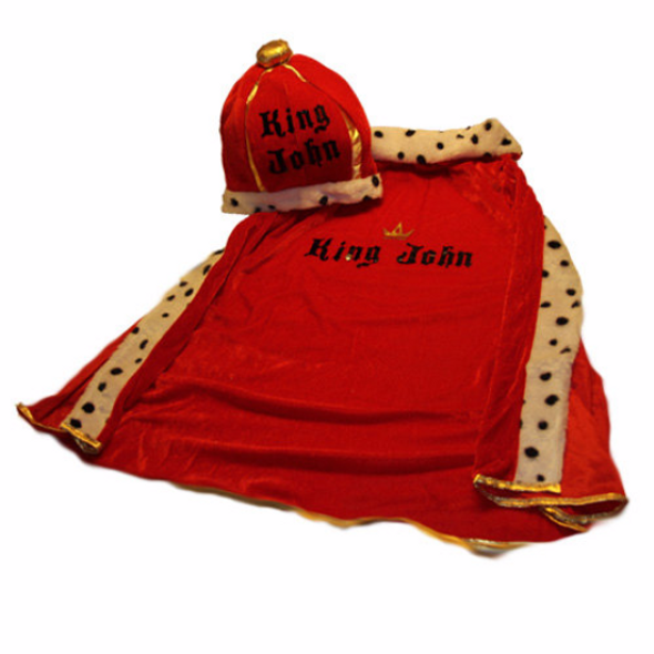 King's Costume, Queens Costume, Adult Size, Ladies Queen Costume Robe and Crown