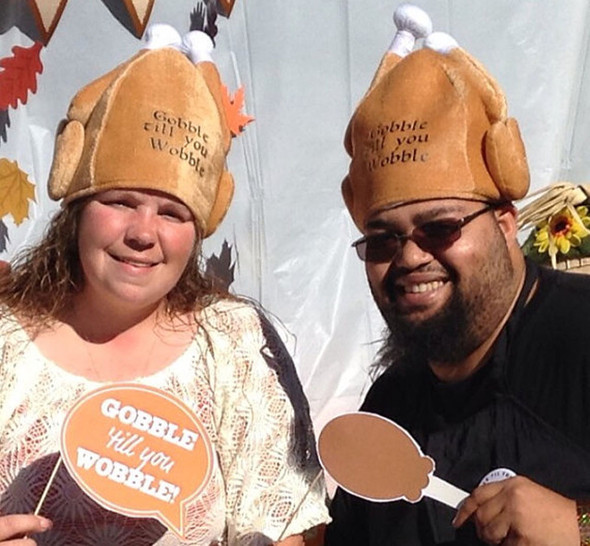 Gobble Gobble Turkey Hat Customized |  Your Custom Text or Logo