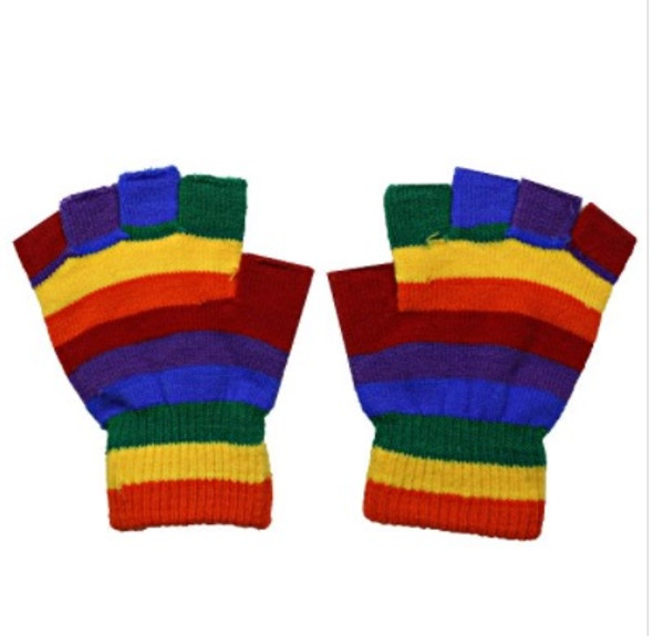 Rainbow Gloves Wholesale | Knit Fingerless or Full Finger 12PK 30212