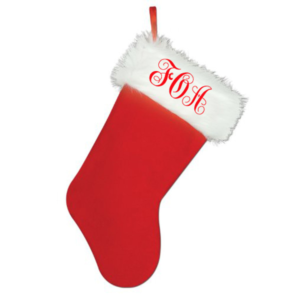 Monogrammed Christmas Stocking | Personalized Stockings | 71001MO