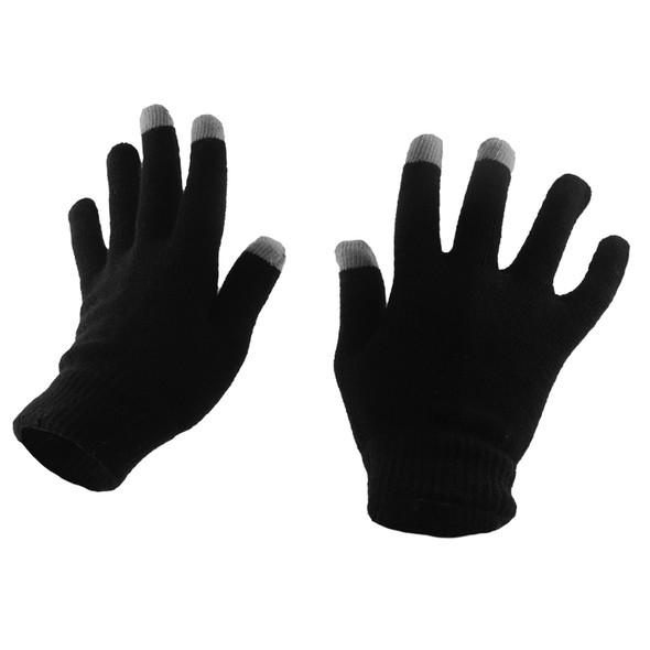 Texting Gloves Bulk | Cell Phone Texting Gloves Wholesale | 12 PACK Black  5047D