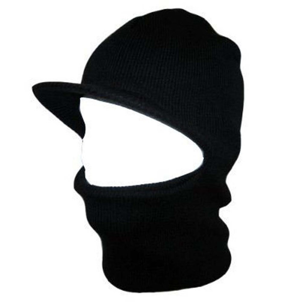 12 PACK Visor Ski Mask Black One Hole 3054