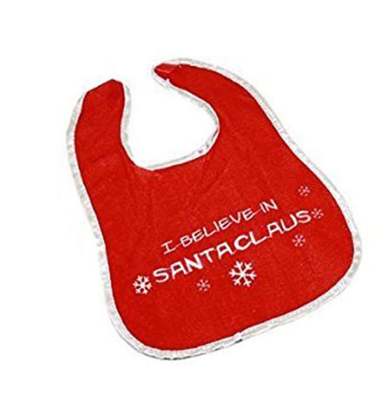 Baby Christmas Bib |  Santa Bib | I Believe in Santa Claus Baby Bib 90145