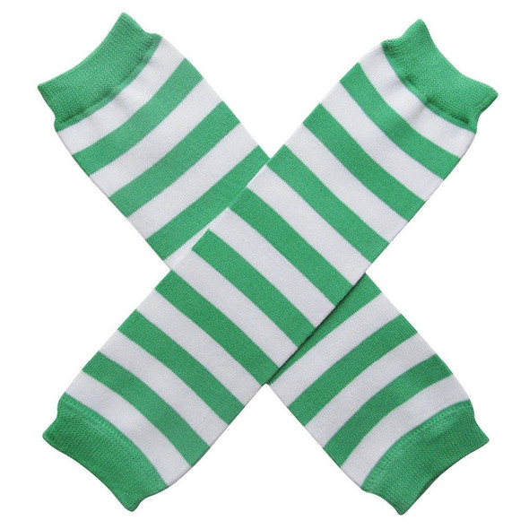 St Patricks  Armwarmers | 12 PACK Striped Green/White 5201D