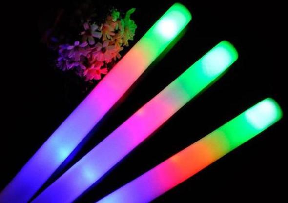 Foam Glow Sticks | Wholesale Glow Sticks | LED Foam Sticks | 12 PACK