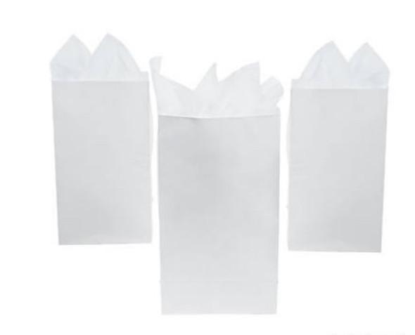 Mini Treat Bags White 3918WH 12 PACK