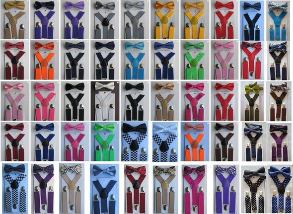 Bowtie and Suspenders | Suspender with Bowtie | SET