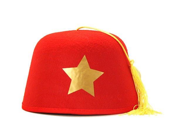 Custom Fez Hats | Shriner Fez | Adult w/ Yellow Tassel C109